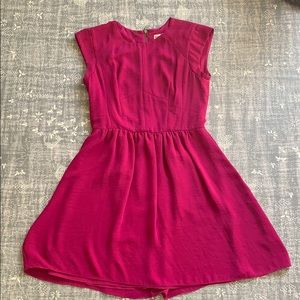 Rebecca Taylor Magenta Silk Dress